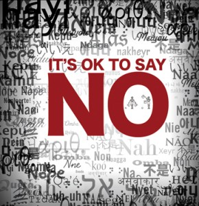 saying no is ok